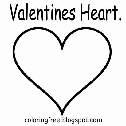 Valentines Heart Template Printable Drawing Coloring Outline