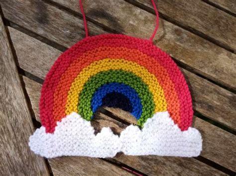knitting pattern rainbow window decoration knitting