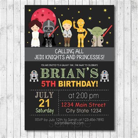 star wars birthday invitations bagvania