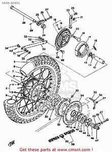 Yamaha Xt500 1976 Dual Purpose Usa Rear Wheel