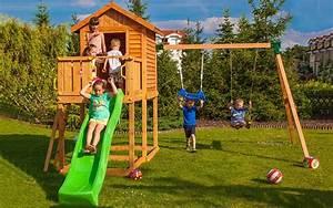 Balancoire Et Toboggan : aire de jeux avec balan oire et toboggan pour enfants ~ Melissatoandfro.com Idées de Décoration