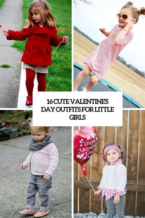 16 Cute Valentineu2019s Day Outfits For Little Girls u2013 OBSiGeN