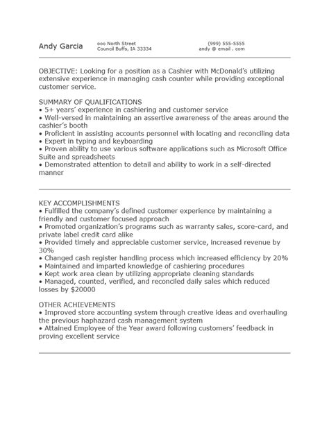 Objective Meaning For Resume Mcdonalds – Perfect Resume Format