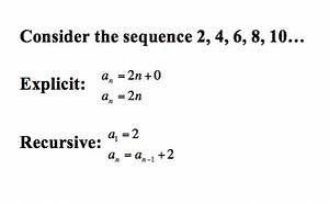 Explicit Formula For Arithmetic Sequence