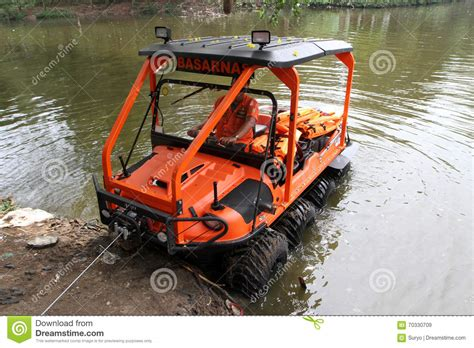 hibious rescue vehicle amphibious vehicle editorial stock image image 70330709