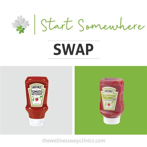 Ketchup Swap   No more excuses, Wellness, Healthy choices