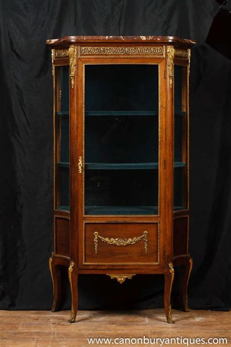 Antique French Empire Display Cabinet Vitrine 1900