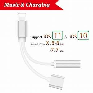 Iphone 8 Laden Mit Kabel : lightning auf 3 5 mm klinkenstecker kopfh rer adapter f r ~ Jslefanu.com Haus und Dekorationen