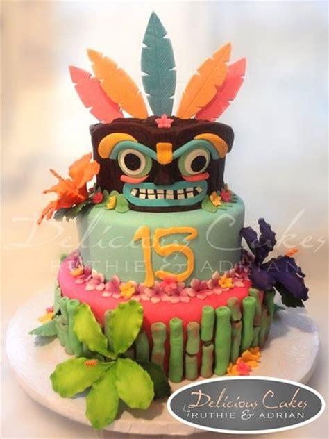 Hawaiian Cake Decorations by Hawaiian Luau Cake By Deliciouscakes Cakesdecor Com