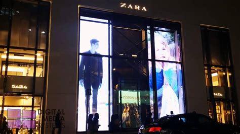 transparent led video wall zara store youtube