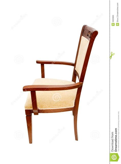 wooden arm chair isolated on the white stock photo image