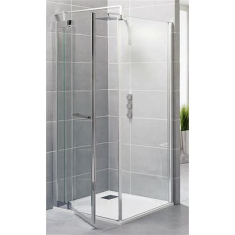 paroi de douche 90 cm gamme exclusive porte fixe kinedo