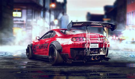 Toyota Supra, Need for Speed, Engine exhaust, Car, Red ...