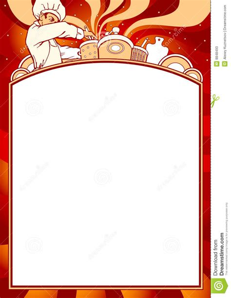 Empty Menu Templates by Blank Of Menu Stock Vector Illustration Of Message