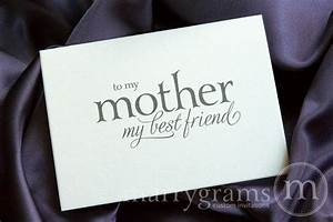 To My Mother My Best Friend Wedding Day Card Mix Style