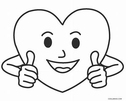 Heart Coloring Pages Printable Cool2bkids