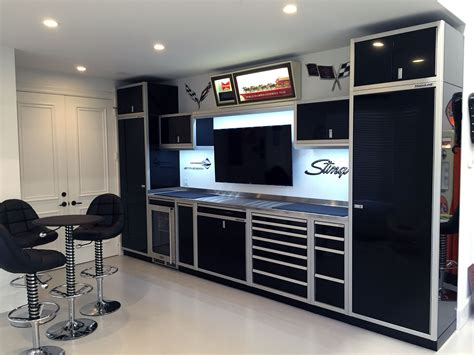 C Tech Garage Cabinets by Moduline Aluminum Cabinets Are Fit For The Race Track And