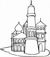 Coloring Russia Pages Kremlin Russian Printable Clipart Architecture Countries Architechture Hundertwasser Coloringpages101 Flag Moscow Cathedral Popular Basil St Printables Clipground sketch template