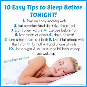 10 Easy Tips for Getting Better Sleep Tonight (That You ...