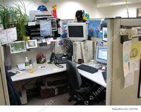 interior architecture crazy office cubicle stock image