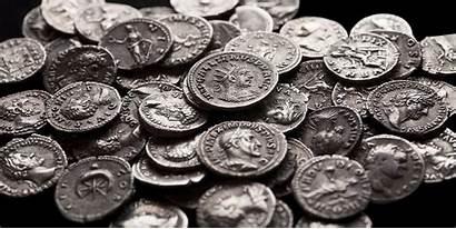 Coins Ancient Roman Japanese Castle Okinawa Japan