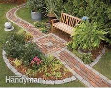 Build A Brick Pathway In The Garden The Family Handyman 25 Backyard Designs And Ideas Small Garden Pond Images Landscaping Gardening Ideas Wedding Makeup Ideas Makeup Trends 2016 Latest Fashion