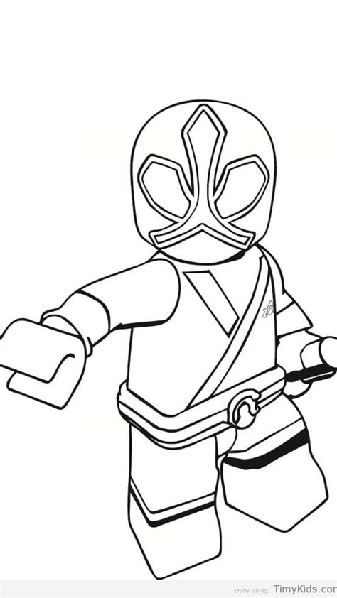Power Rangers Printable Coloring Pages