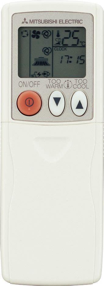 Mitsubishi Air Conditioners Remote Control Symbols