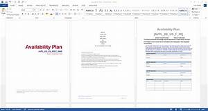Availability Plan Template  Ms Word   U2013 Templates  Forms