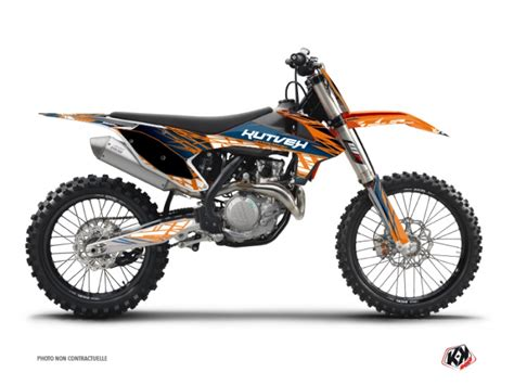 kit deco 125 sx kit d 233 co moto cross eraser ktm 125 sx bleu orange kutvek kit graphik