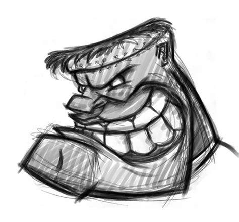 cartoon frankenstein sketch  drawing   cartoon