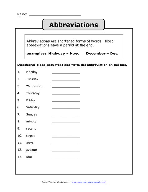19 Best Images Of Abbreviations Worksheets For 2nd Grade  State Abbreviation Worksheet 2nd