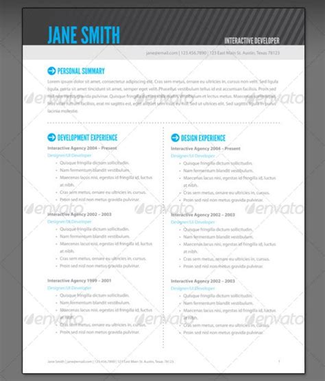 Designing A Resume In Illustrator by 37 Stylish Resume Templates Vandelay Design