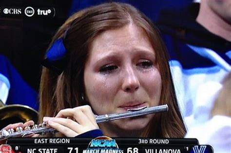 Flute Player Meme - this piccolo player cried when her team lost and now she s a meme