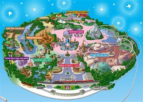 map  disneyland disney disneyland tomorrowland