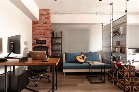 Loft Industrial Style by Tiny Industrial Loft Style Apartment In Taipei City