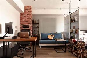 Tiny, Industrial, Loft, Style, Apartment, In, Taipei, City