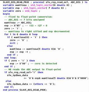 Vhdl Code For Hw Unsigned Integer To Floating Point