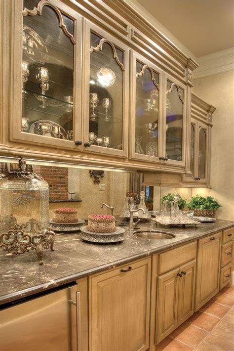beautiful antique mirror backsplash house  home