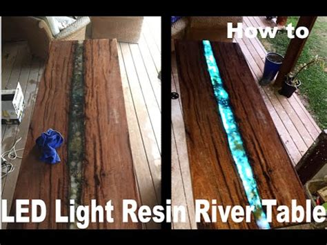 led epoxy resin river table youtube