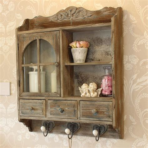 heavy distressed wooden wall cabinet  hooks melody maison rustic furniture diy