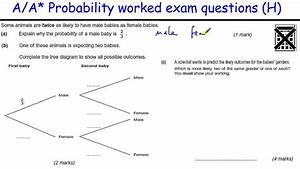How To Do Probability A  A  Gcse Maths Revision Higher Level Worked Exam  Tree Diagrams
