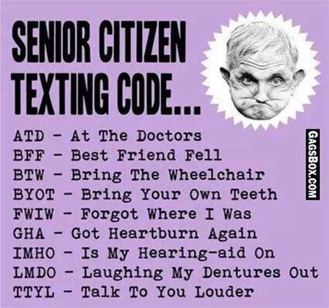 Senior Meme - short code for senior citizen funny lol fun humor comics meme gag box