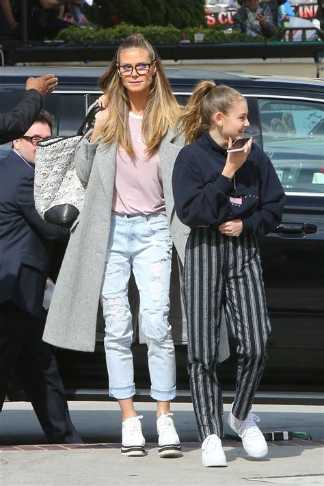 Heidi Klum Out About With Her Daughter Helene Celebzz