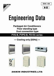 Daikin Engineering Data Packaged Air Conditioners Floor Standing Type Duct Connection Type Ed45