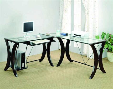 glass home office desk glass corner desk for home office