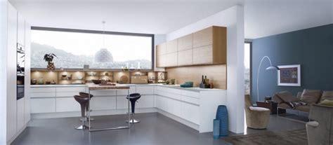 cuisine blanche sol gris cuisine semi ouverte sur salon cuisines semi ouvertes sur