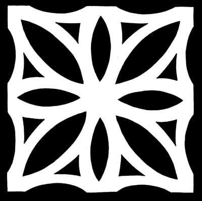 flowers paper snowflake pattern template printable paper