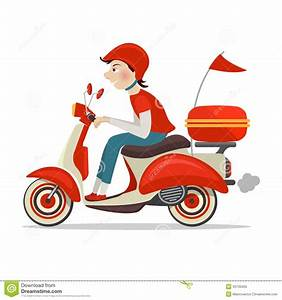 Scooter Delivery Icon Stock Vector Image45730450