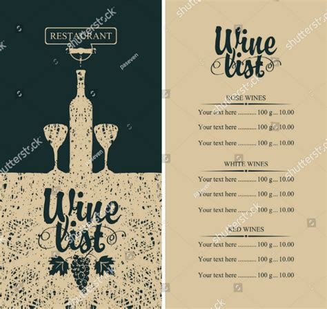 wine menu designs editable psd ai format